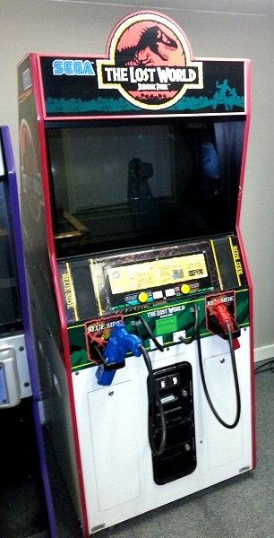 Jurassic Park : The Lost World video arcade game - The Coin Drops Here